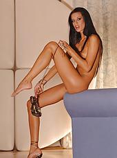 Prague hottie shows her fine stuff