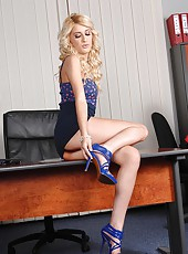 Hot lesbian foot fetish office sex
