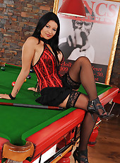 Hot Anna Polina naked on pool table