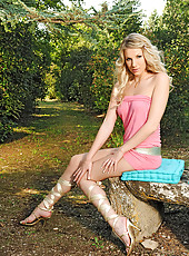 Hot Danielle Maye soloing in heels