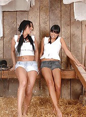 Babes Kerry Louise & Sasha in barn
