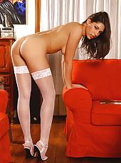 Long-legged Zafira in stockings