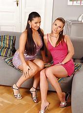 Feet loving lesbians having hot fun