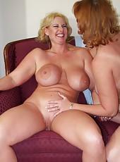 Big Tit Moms Play Together