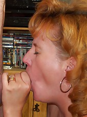 Sucking Cock On Her Knees