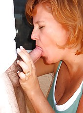Dawn Marie Giving Hubby A Blow Job