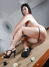 Gia Sexy and Naked on the Pool Table