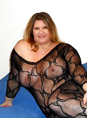 Big Tit BBW Kris Ann In a Body Stocking