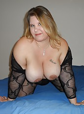 Big Tit BBW Kris Ann In a Body Stocking