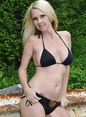 Kylie Deville Outside Stripping Out Of Her Bikini