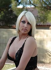 Amya Naked on an Aprilia